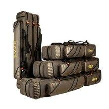Portable Fishing Bags 3 Layer Large Capacity Fishing Pole Tools Storage