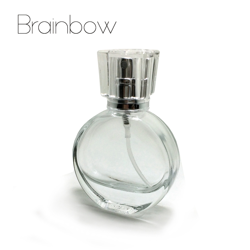 Brainbow 1pc 20ml Glass Empty Perfume Bottles Atomizer Spray Refillable Bottle Spray Scent Case with Travel Size Portable+Funnel crystal art decor vintage style perfume spray bottle atomizer refillable glass bottles star sharp home decoration