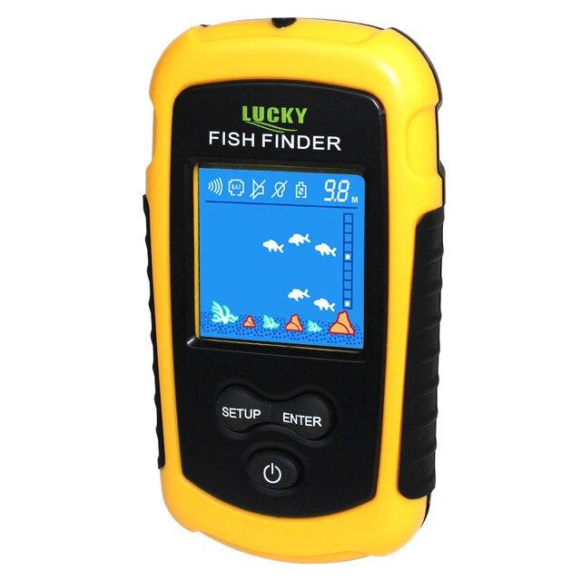 Быстрая бесплатная доставка! FFC1108-1 Лидер продаж сигнализации 100 м Портативный Sonar ЖК-дисплей Эхолоты Рыбная ловля приманки эхолот Рыбная ловля Finder