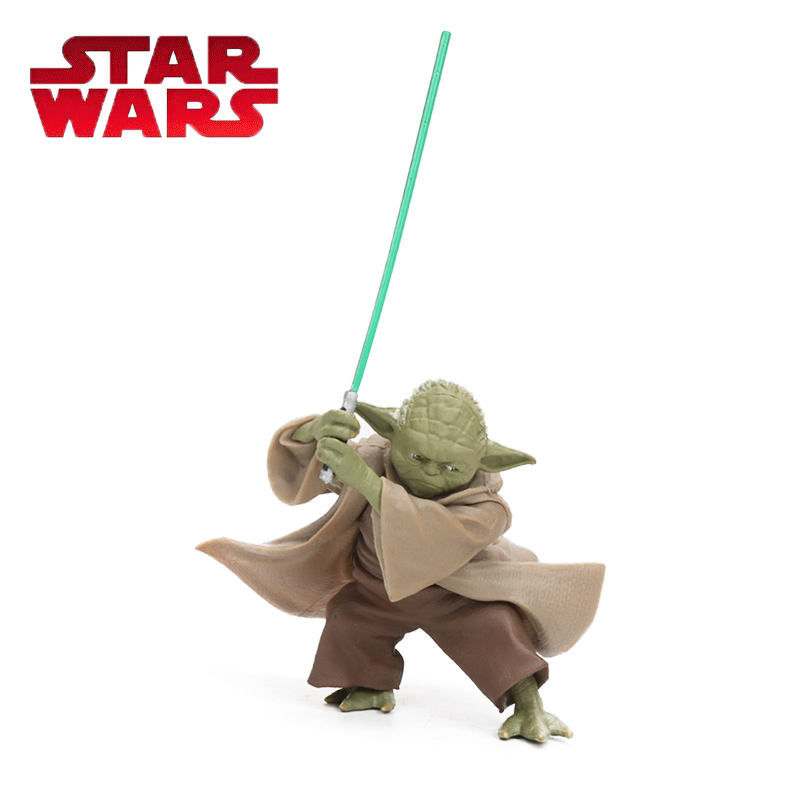 10cm Star Wars Toys Master Yoda Darth Jedi Knight PVC Action Figures The Force Awakens Baby Yoda Collection Model Dolls Toy