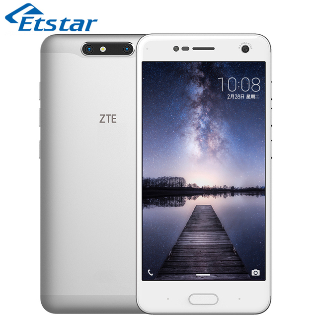 Original ZTE Blade V8 Mobile Phone 5.2'' 4GB RAM 64GB ROM Snapdragon 435 Octa Core Dual Back Camera 13.0MP Plus 2.0MP Android7.0