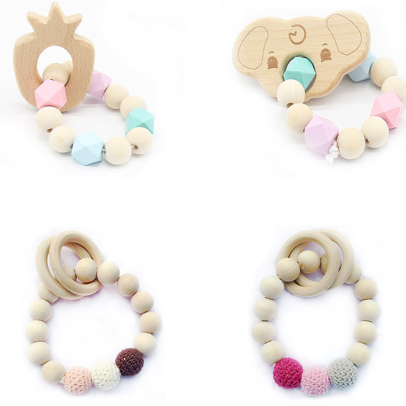 New Baby Toys 0-12 Months Wooden Rattle Newborn Toys Teething Educational Toys Baby Speelgoed With Teether Rattles baby toys