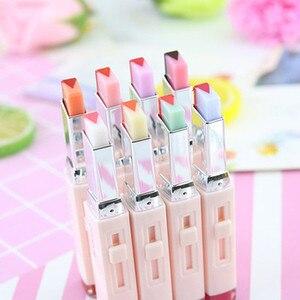 Image 2 - 8 Color Gradient Color Korean Bite Lipstick V Cutting Two Tone Tint Silky Moisturzing Nourishing Lipsticks Balm Lip Cosmetic New