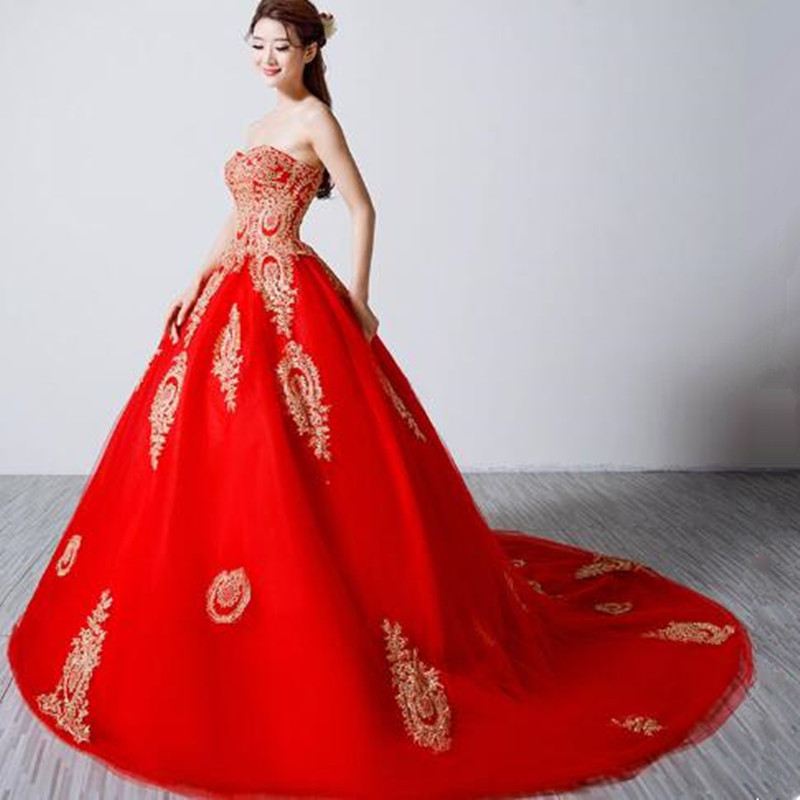 Popular Red Gold Ball Gowns-Buy Cheap Red Gold Ball Gowns lots ...