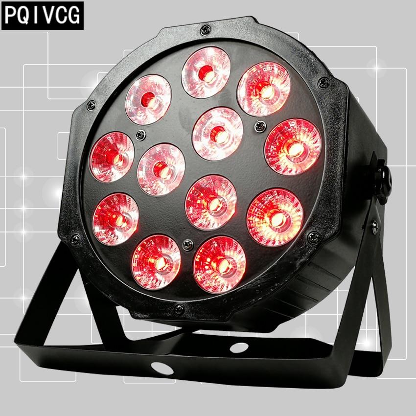 12x12w led Par lights RGBW 4in1 flat par led dmx512 disco lights professional stage dj equipment