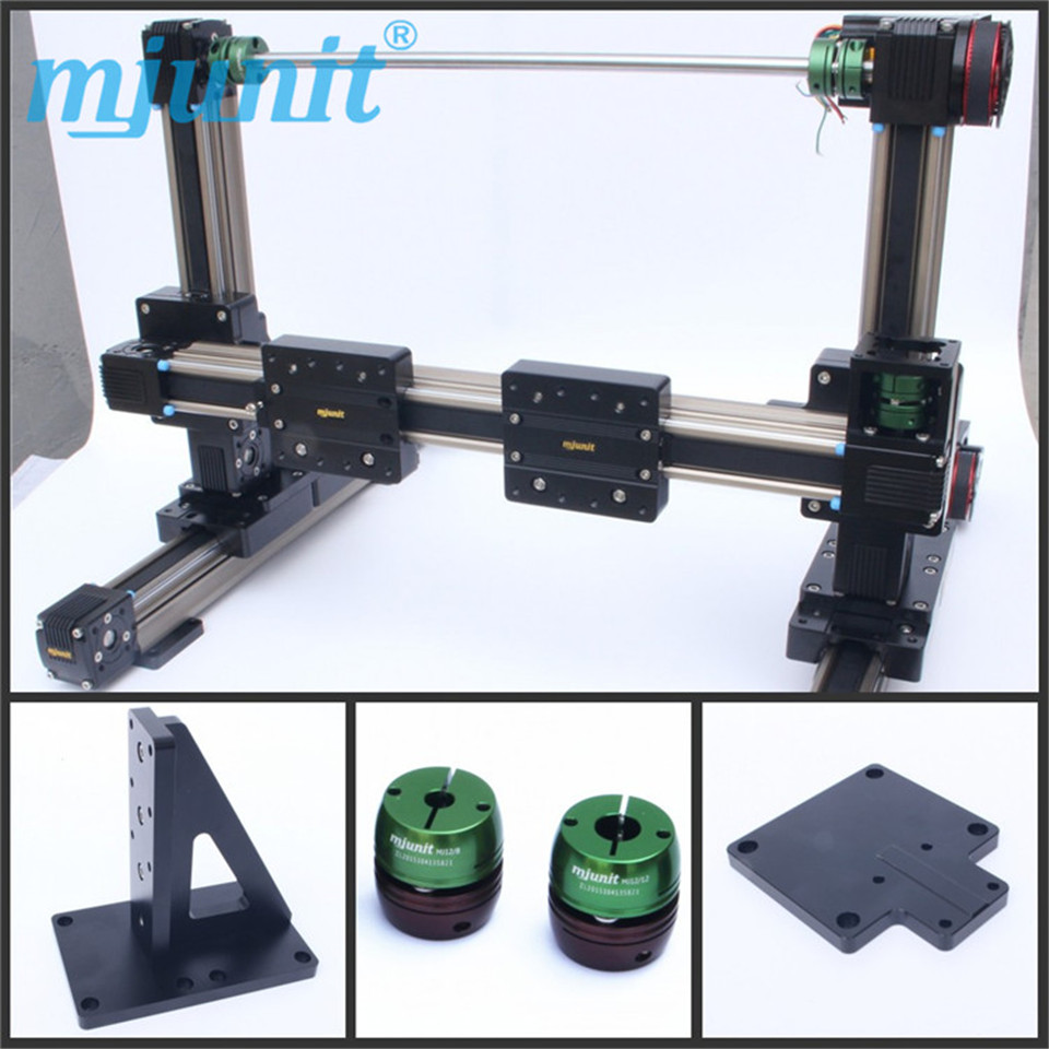 mjunit belt drive rail /Using the linear guide of 60 servo motor/linear guide rail belt driven linear slide rail belt drive guideway professional manufacturer of actuator system axis positioning