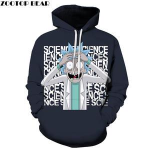 76bf5c7f5c83 Black Hoodies Mens Sweatshirt Rick and Morty Hoodie 3D Pullover Funny Hoody  Anime Tracksuit Male Streatwear DropShip ZOOTOPBEAR