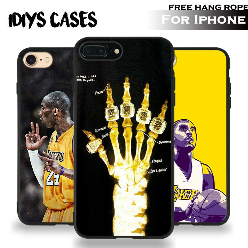 Kobe Bryant 24 logo Coque Tpu Soft Silicone Phone Case Cover Shell For Apple iPhone 5 5S SE 6 6S 6Plus 6sPlus 7 7Plus 8 8Plus X