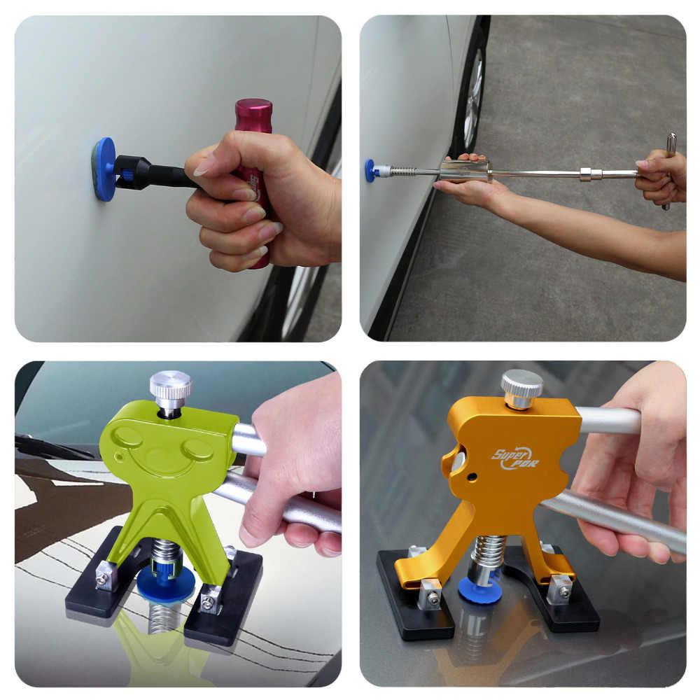 PDR T бар Съемник комплект с 4 шт. клей вкладки авто инструменты для тела подъемник вмятин съемник для 10 см вмятин ремонт автомобиль, мотоцикл