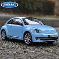 Welly Diecast Model VW Beetle 1:24 Alloy Car Model Toy Vehicle Car Model Alloy Model Toys gift Toy car Original  Box