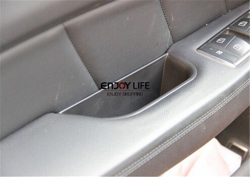 4 шт. автомобиля подлокотник коробка дверная ручка для хранения телефона контейнеродержатель организатор для mercedes-benz CLS флэш-класс W218 2011 - 2015