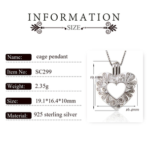 Image 2 - CLUCI 3pcs Silver 925 Heart Shaped Romantic Pendant Jewelry Gift for Women 925 Sterling Silver Pendant Pearl Locket SC299SB