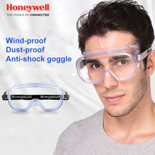 Honeywell Safety Goggles Sand-proof Dust-proof Glasses Anti-shock Riding Working Labor insurance Transparent Protective glasses стоимость