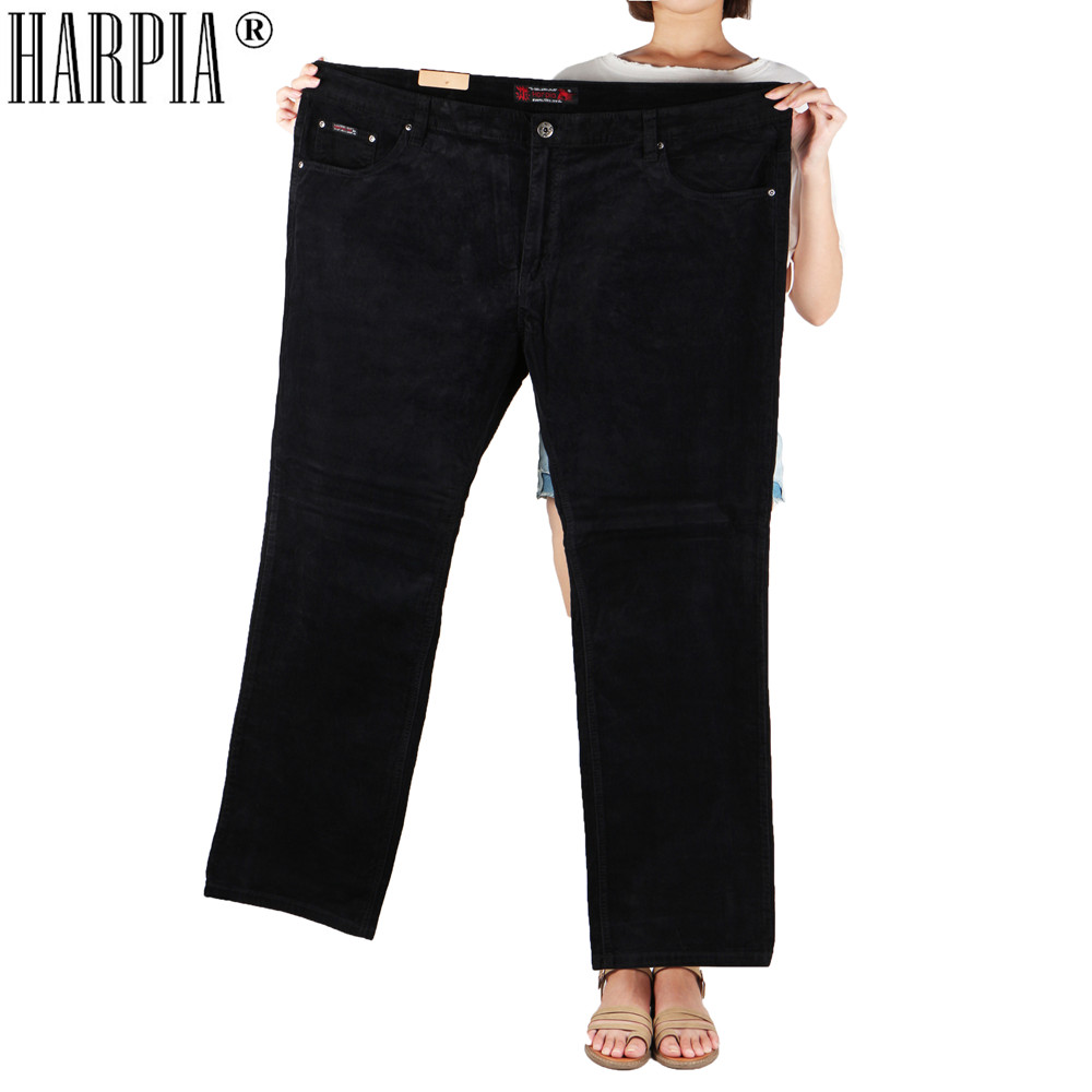 HARPIA corduroy pants men trousers male casual Black stripe Straight Loon trousers men pantalones hombre in Casual Pants from Men 39 s Clothing