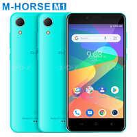M-HORSE M1 Smartphone Android 8,1 18:9 5 pulgadas teléfono móvil 1GB 8GB MT6580 Quad Core 3G Dual sim 5MP 8MP Cámara teléfono móvil 2000mAh