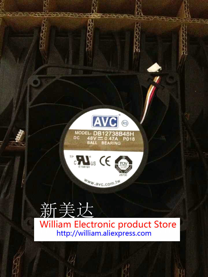 New original AVC DB12738B48H P018 48V 0.47A 12038 12cm Inverter cooling fan new original wfb1224he broo 12038 12cm 24v 0 50a 3 wire inverter fan