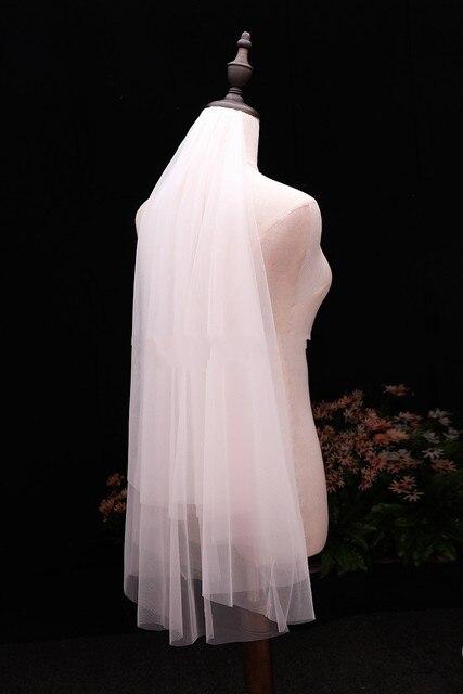 In stock voile Short Veil Cheap wedding accessories Welon veu de noiva Bridal Veil 2020 sluier bridal accessories brautschleier 2