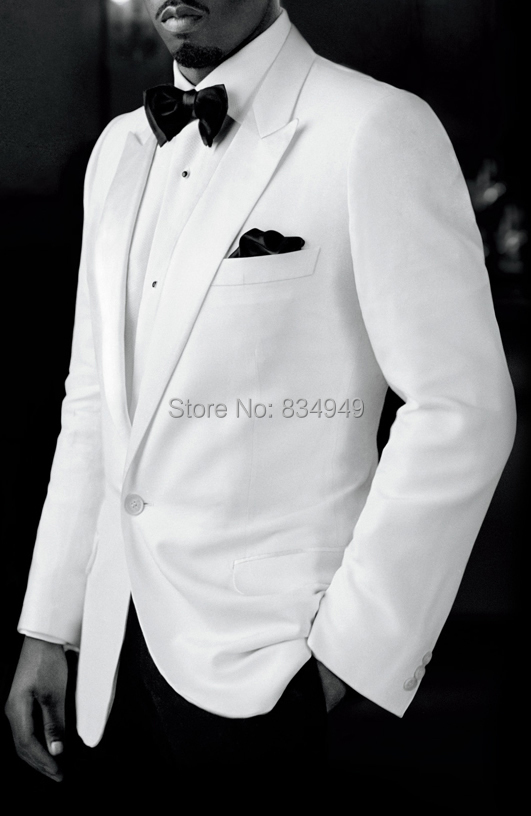 Custom Made To Measure White Wedding Tuxedos For Men,Bespoke White ...