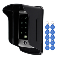 RFID Standalone Touch Metal Access Control With 10 Keychains 125KHz ID Waterproof Cover For Door Access