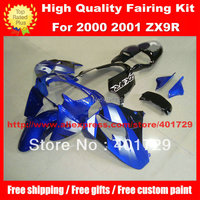 Motorcycle Parts for Kawasaki ZX 9R 2000 2001 ZX9R 00 01 blue black custom race fairing kit with free gifts