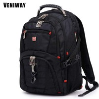 VENIWAY Famous Brand Swiss Cross Gear Waterproof Laptop Backpack 15 Large Capacity Daily Backpacks Travel Bag