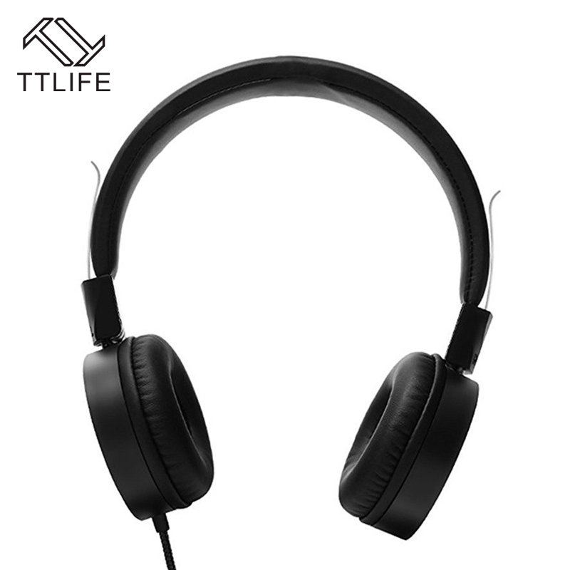 2016 TTLIFE Brand Powerful Bass Over-Ear Style Headphones Wired Headset Foldable Earphone With Microphone headset ouvido com fio