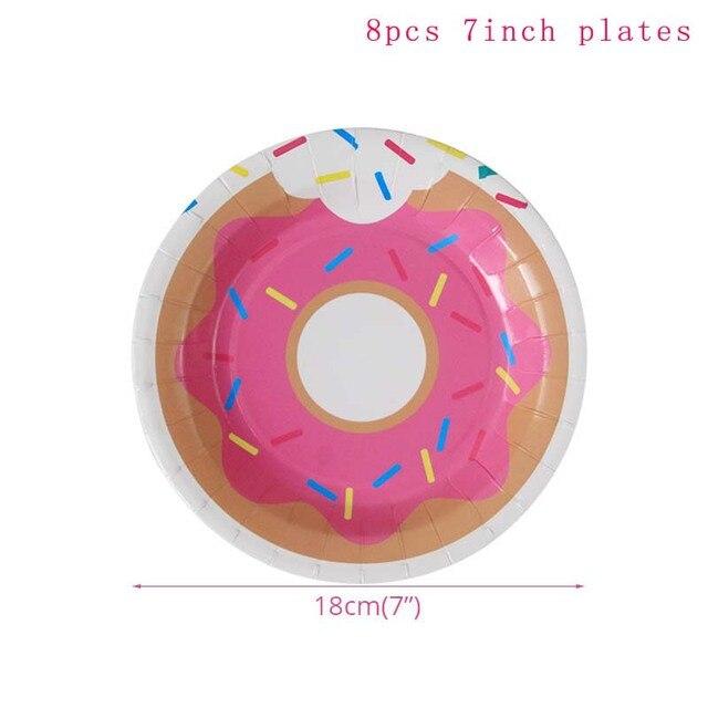 8pcs 7inch Plates Monkey 1st birthday decorations 5c64f9ae5e23e