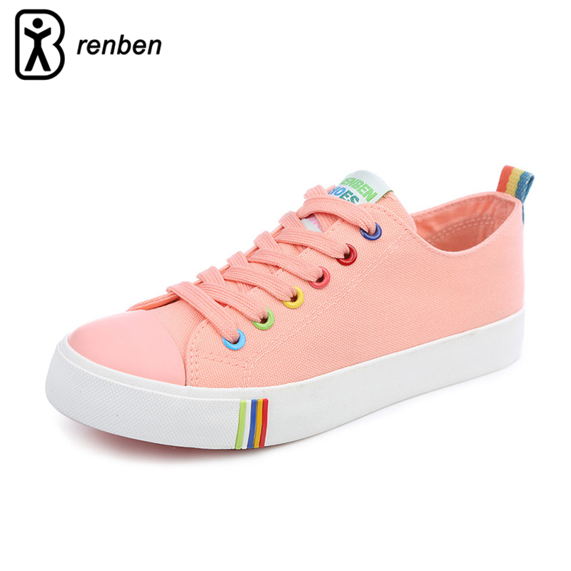 RenBen 2017 Flats Canvas Casual Shoes Women Fashion Lightweight Breathable Colorful Farbic Female Shoes Durable Ladies Shoes vintage embroidery women flats chinese floral canvas embroidered shoes national old beijing cloth single dance soft flats