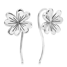 e0de5b8b4 Authentic 925 Sterling Silver Earring Lucky Four-leaf Clovers Hanging  Earrings For Women Wedding Gift