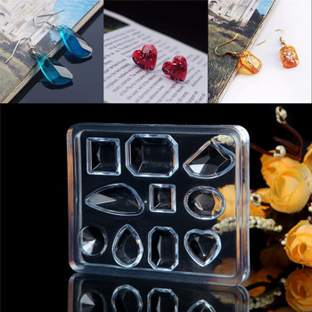 DIY jewelry tool Geometric Jewelry Mold Pendant Earring Silicone Resin Craft Making Tool Handmade decoration epoxy resin mold diy silicone 3d pendant water drop gem necklace jewelry mold crystal scale resin casing craft jewelry making tool