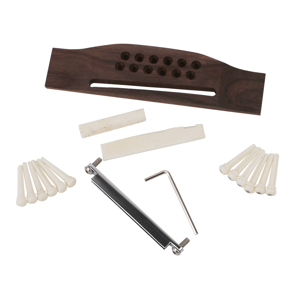 Homeland 12PCS Bridge Pins Guitarra Classical Guitar Bone Nut Saddle Rosewood Bridge For Guitar Accessories And Part Kits 1 kit classical guitar bone nut saddle rosewood bridge 12pcs bridge pins guitarra for guitar accessories and part kits