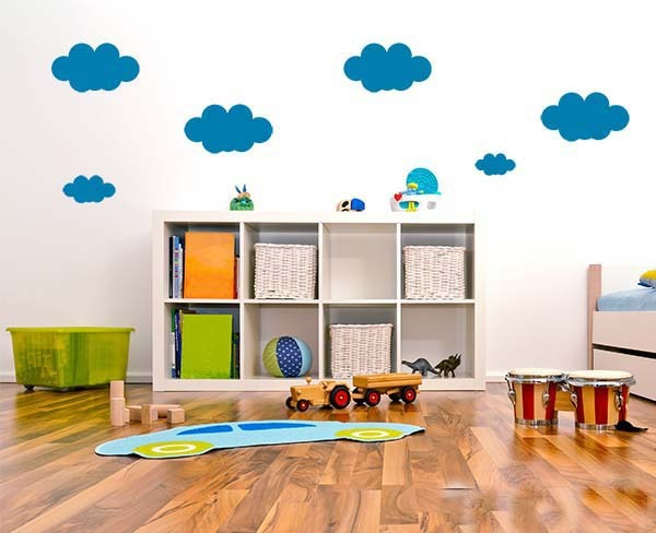 Kids Bedroom Background cloud wall stickers for kids rooms home bedroom decor wall art