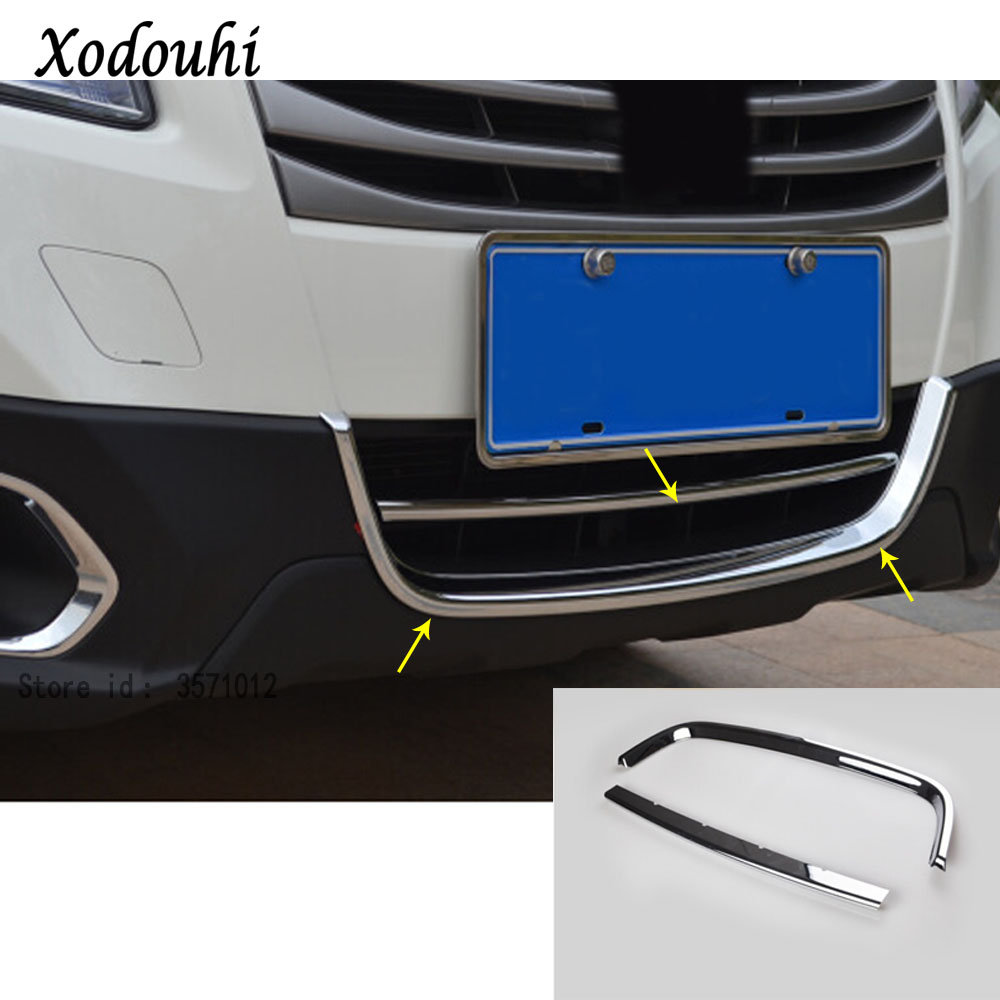 For Suzuki S-cross scross SX4 2014 2015 2016 2017 ody detector ABS chrome trim front bottom racing Grid Grill Grille panel 2pcs for suzuki sx4 s cross crossover 2014 2015 2016 stainless steel front hood grill cover bonnet trim cover car styling accessory
