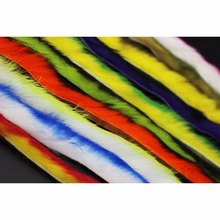 Tigofly Top Quality 10 Colors Double Color Rabbit Zonker Strips Straight Cut 5MM Width Hare Hair Fur Bass Fly Tying Materials