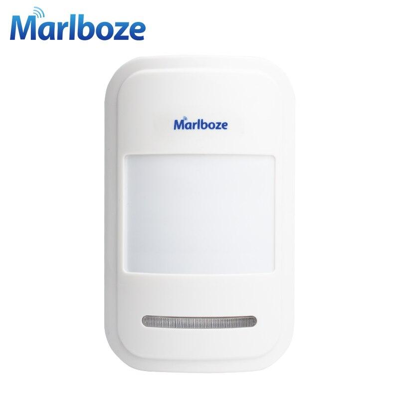 1 Unids Marlboze de Alto grado Sensor Infrarrojo detector de Movimiento PIR Inalámbrico 433 MHz Sistema de Alarma de Accesorios Envío gratis