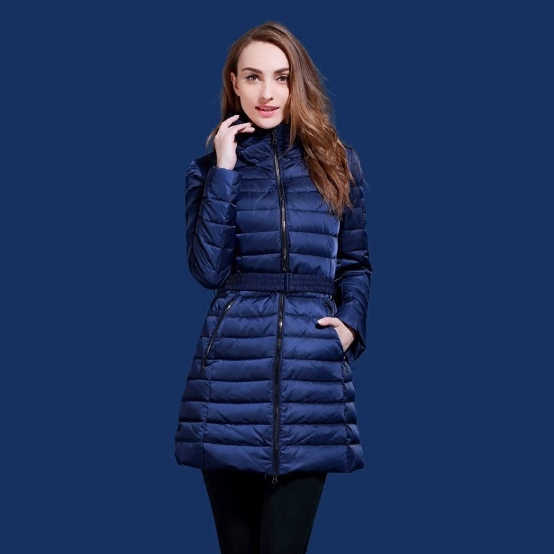 women winter down jacket Contains 90% white duck down Suitable for Russia and Europe minus 20 degrees warm plus size s-2XL Q516