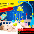 Baby bed bell newborn baby light music bell rotating bed with remote 0-1 year old bedside pendant Early Childhood Education Toys