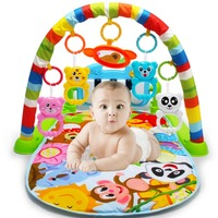 Soft Baby Play Mat Activity Piano Fitness Frame Pedal Music Bed Bell Pay Gym Toy Floor Crawl Blanket Carpet Multifunction