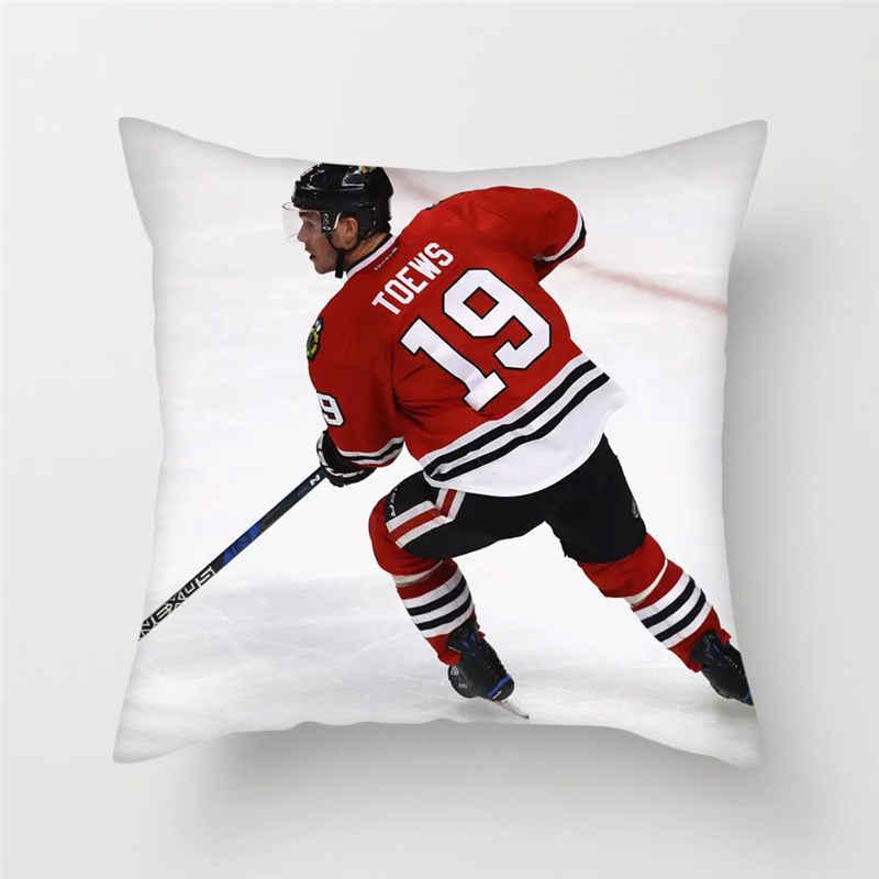 Fuwatacchi NHL الرياضة غطاء الوسادة هوكي الجليد رمي الوسائد غطاء أريكة سادات ديكور للديكور كرسي منزلي غطاء وسادة