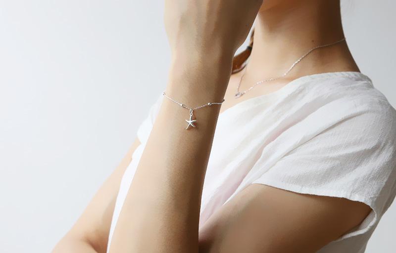 Модное серебряное кольцо Цвет Морская звезда браслет для женщин