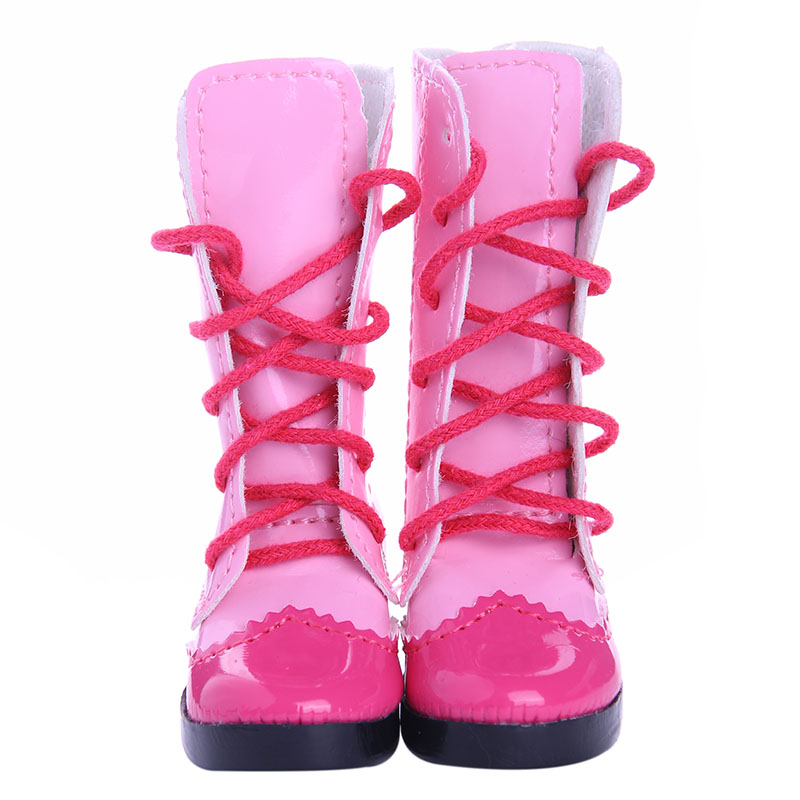 New Arrivals Blyth 1 Pairs Pink Boots For BJD Doll Toy Mini Doll Shoes For Sharon Doll Boots Dolls Accessories Hot Sale 7.5CM