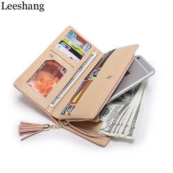 Leeshang womens purse pink wallet phone clutch zipper long wallet card holder dollar price leather purse.jpg 250x250