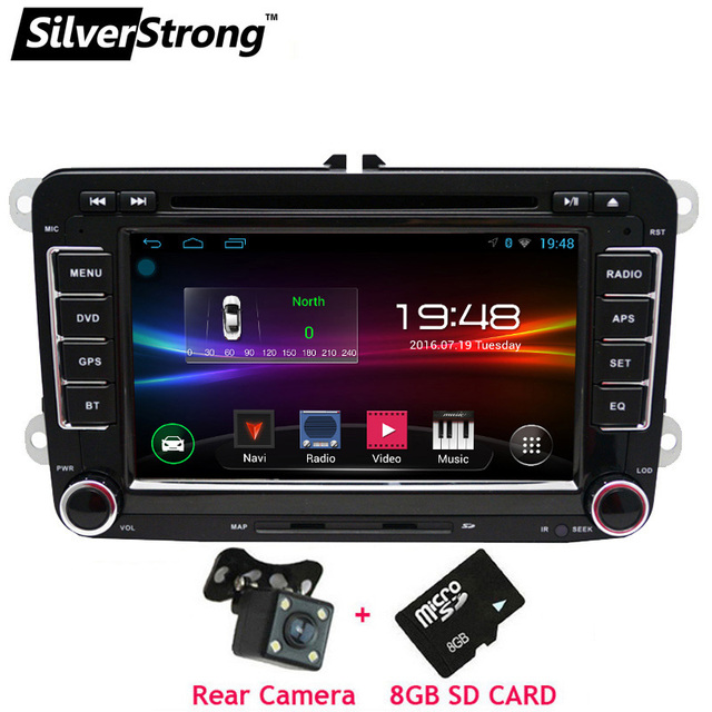 SilverStrong 2Din Android Car DVD Player for Volkswagen PassatB6 B7 Jetta MK5 MK6 Car Android Golf DVD GPS VW Radio 65DS