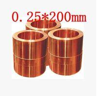 0 25 200mm High Quality Copper Strip Sheet Skin Red Copper Purple Copper Foil Copper Plate