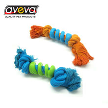 Natural Rubber Cotton Rope Bone Shape Pet Dog Clean Teeth Toy Pet Dog Toy Teeth Cleaner For Training Jump Catch Teeth Clear Toy