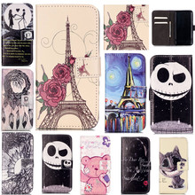 Luxury Lovely Cute Cartoon 3D Lovers Ghost Tower Leather Wallet Flip Fundas Phone Cases For Samsung Galaxy S7 Cover Case Coque
