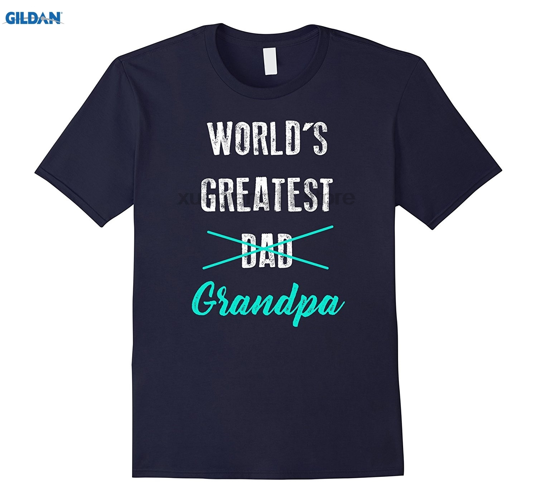 GILDAN Mens Worlds Greatest Dad Grandpa Shirt, Pregnancy Announcement
