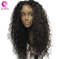 Eva Hair 250% Density 360 Lace Frontal Wig Pre Plucked With Baby Hair Brazilian Remy Curly Lace Front Human Hair Wigs For Women