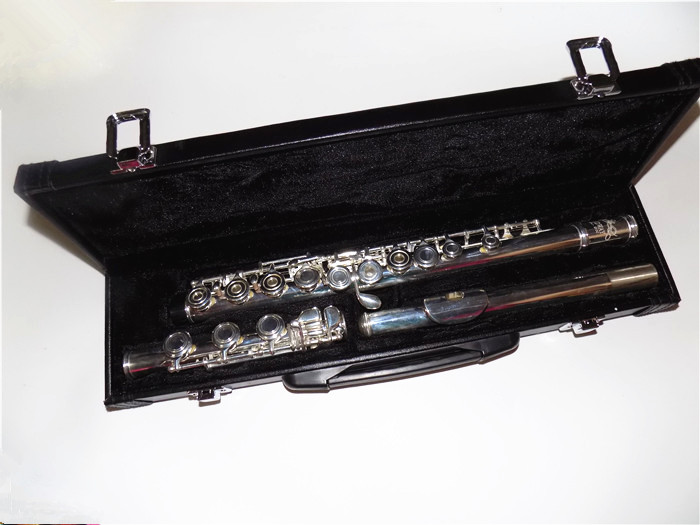 Silver plated Flute 17 Open holes with Closed Holes include Case Shipping time 8-13 days Musical instruments alto flute g pitch cupronickel body closed holes in line with foambody case musical instrument free shipping