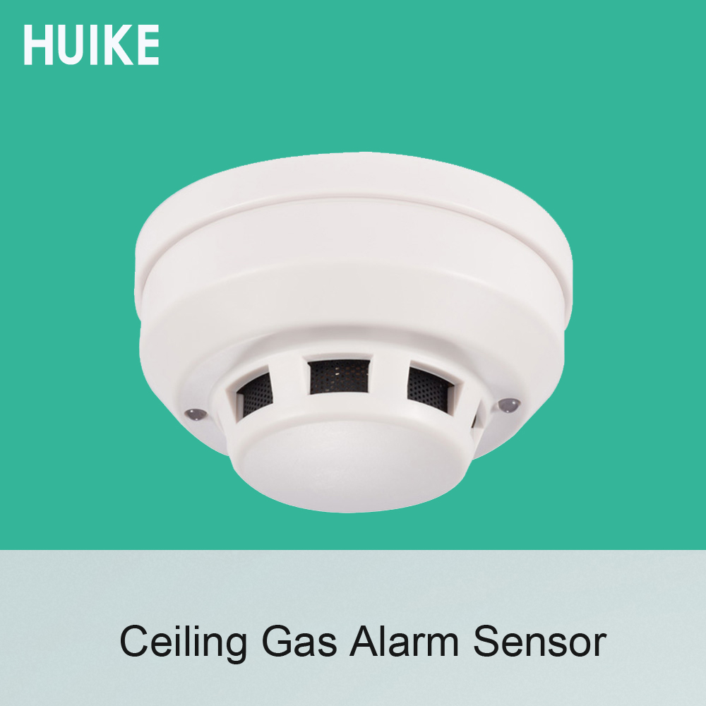 1 PCS 12VDC Wired Type Ceiling Gas Leak Detector Fire Control Alarm Home security Normally Close relay output signal